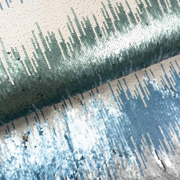 Pailletten Stripes Matt ecru