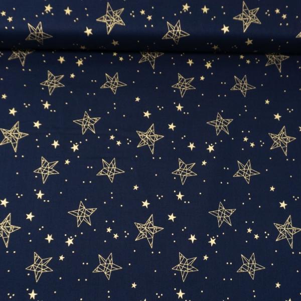Baumwollwebware Christmas Star Sign navy