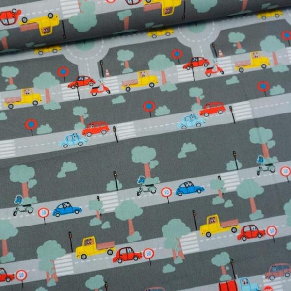 Baumwollwebware Traffic anthra