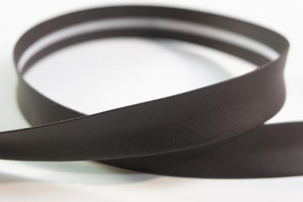 Kunstleder Schrägband 18mm breit vorgefalzt dunkelbraun Ökotex 100