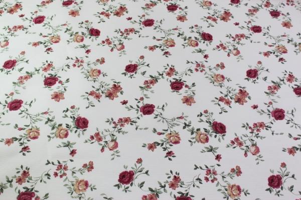 Beschichtete Webware Wachstuch Petit Roses Öko Tex 100