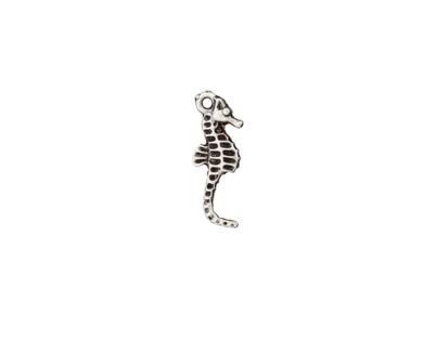 Metallzierteil Seepferdchen altsilber