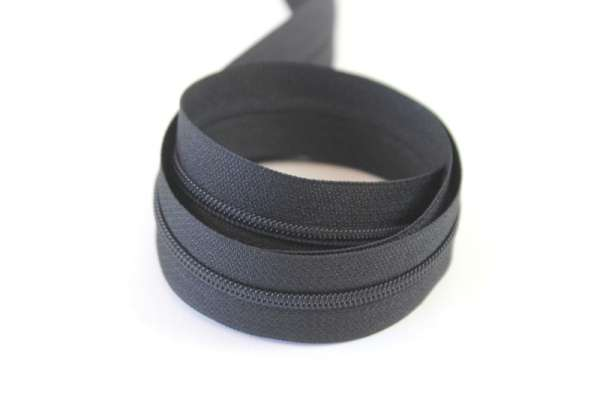 Endlosreißverschluss schwarz 12mm Ökotex 100