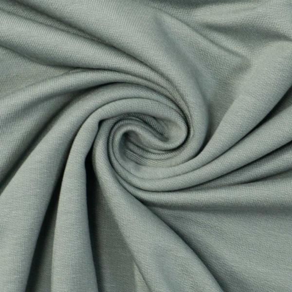 Bamboo Sommersweat Soft Uni dusty mint dunkel