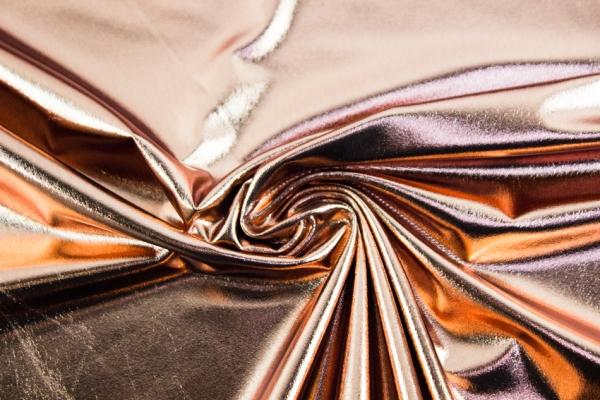 Folienjersey - Jersey Metallic Bronze Ökotex 100