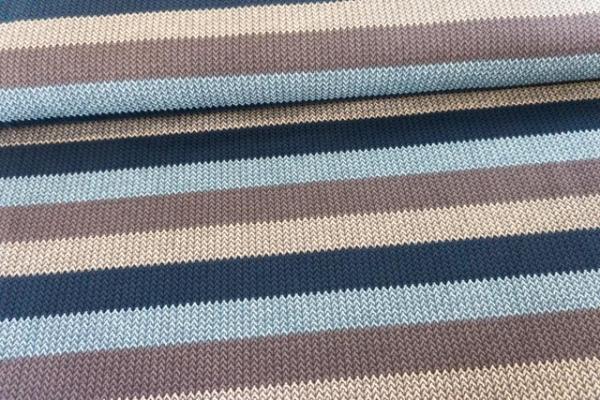 Sweat French Terry angeraut Statement Stripes Knit braun-beige-anthra-grau Ökotex 100
