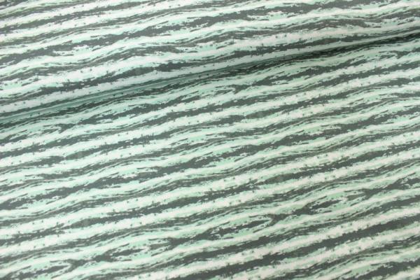 Sweat unangeraut Stripes grün-weiß-hellgrün Ökotex 100