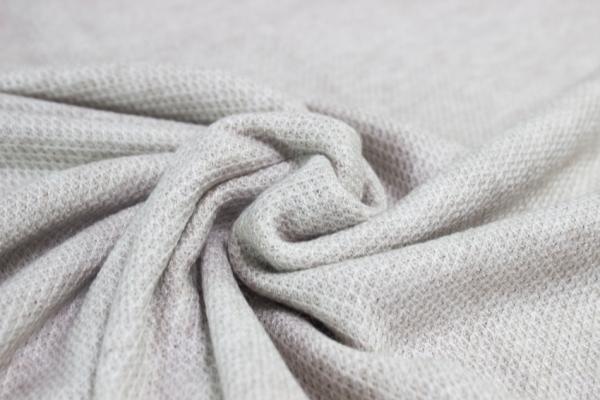 Polo Piqué Strick-Jersey hellbeige meliert - Pashmina Style Ökotex 100