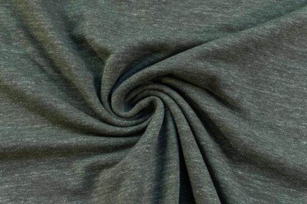 Tender Supersoft Sweat meliert - khaki - angeraut Ökotex 100