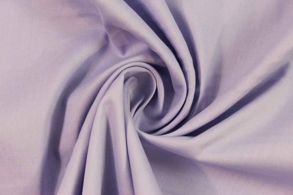 Baumwolle Poplin Stretch Uni knitterarm lavendel Ökotex 100