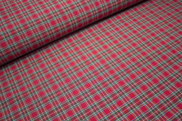 Canvas Schottenkaro Rot/grün KLEIN 100% Baumwolle Ökotex 100