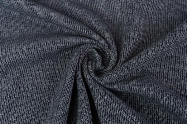 Baumwoll Feinstrick jeansblau dunkel Ökotex 100
