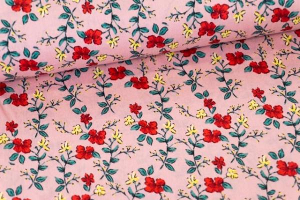 Baumwollwebware Rosenstränge altrosa Ökotex 100