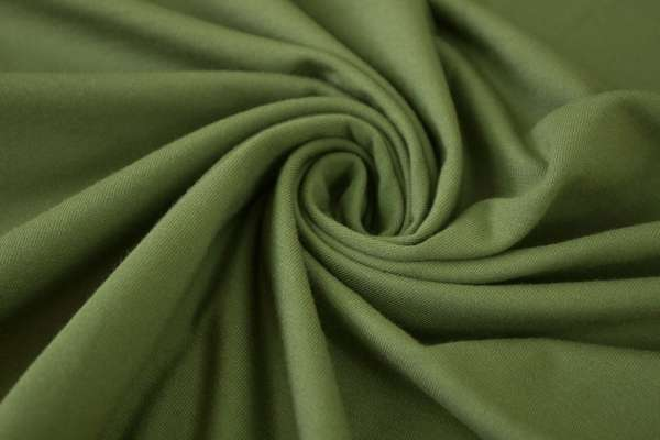 Baumwolljersey Uni olivgrün
