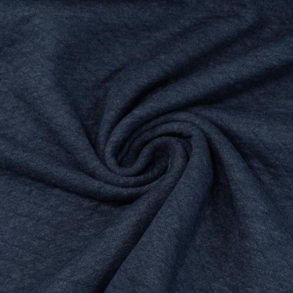 Baumwolljersey Stepper jeansblau meliert