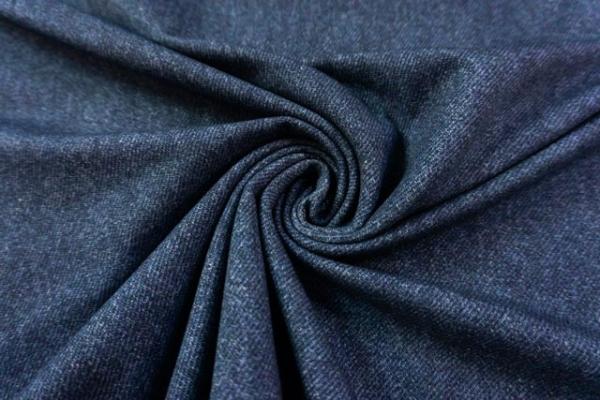 Sweat French Terry Jeanslook UNI jeansblau dunkel Ökotex 100