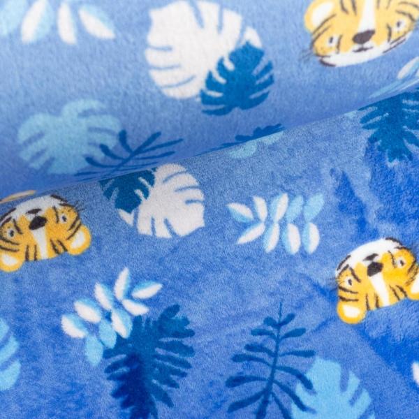 Kuschelfleece Löwe blau