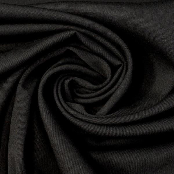 Viskose - Satin Stretch Rosalie Uni schwarz Ökotex 100