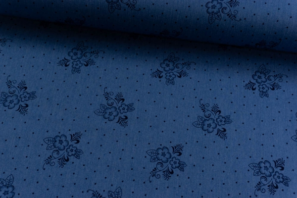 Jeans Denim Stretch Bouquet jeansblau dunkel Ökotex 100
