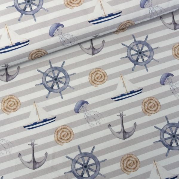 Canvas DIGITAL Maritime Vibes hellgrau