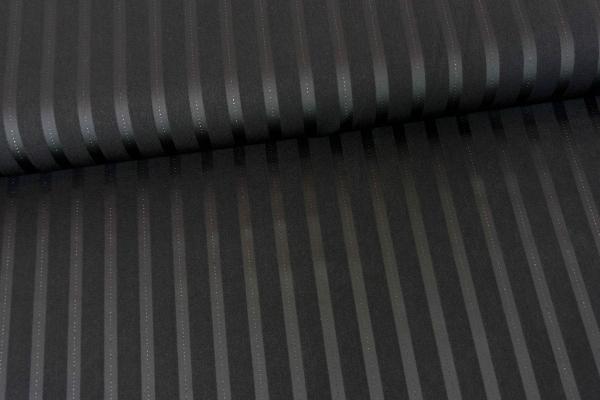 Fashionstoff Bengaline Streifen mit Lurex schwarz Öko Tex 100