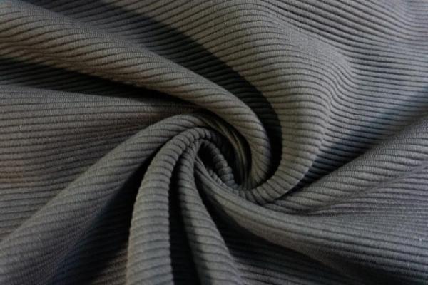 Baumwolljersey Stripe Knitted anthra Ökotex 100
