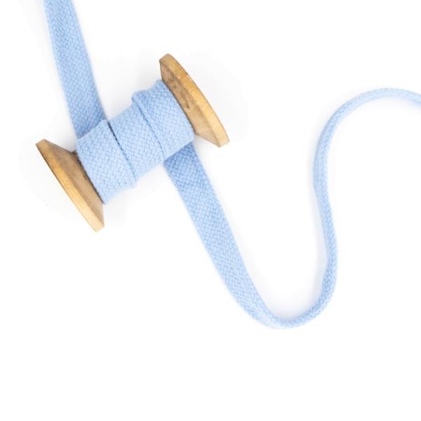 Flachkordel 20mm - Hoodie Kordel hellblau