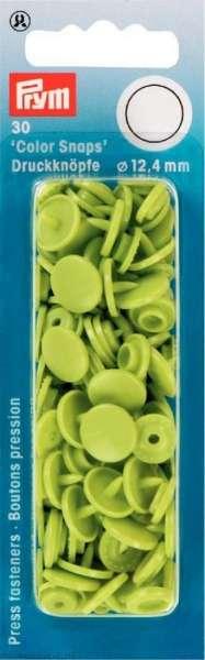 Prym Color Snaps apfelgrün rund 12,4mm