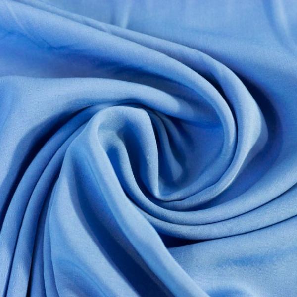 Viskosewebware Kunstseide Uni jeansblau dunkel