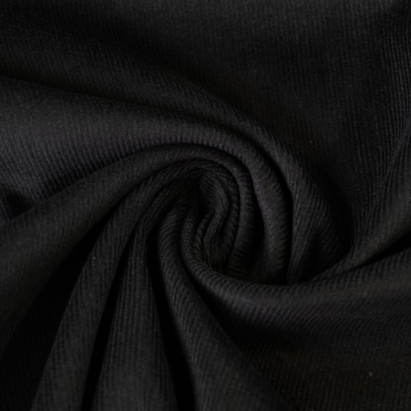 Babycord Stretch schwarz ÖkoTex 100