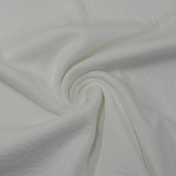 Doubleface Baumwolljersey Lochoptik weiß