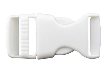 Rucksackschließe weiß 25mm Kunststoff