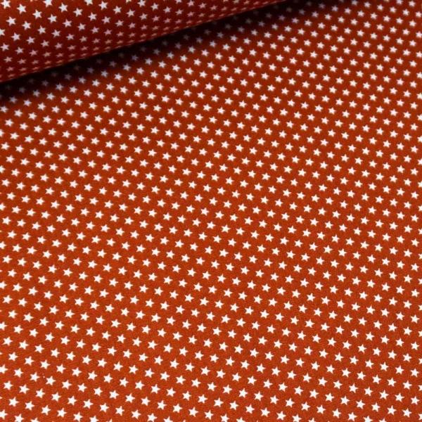Baumwollwebware Mini Sterne terra