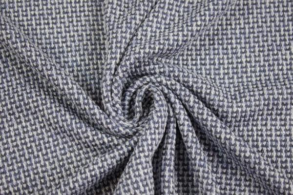 Strick Knit melange jeansblau hell Ökotex 100