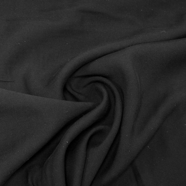 Viskosetwill Uni schwarz