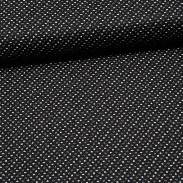 Baumwollwebware Kleine Tupfen schwarz