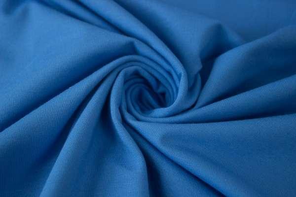 Bündchen Feinstrick Uni blau