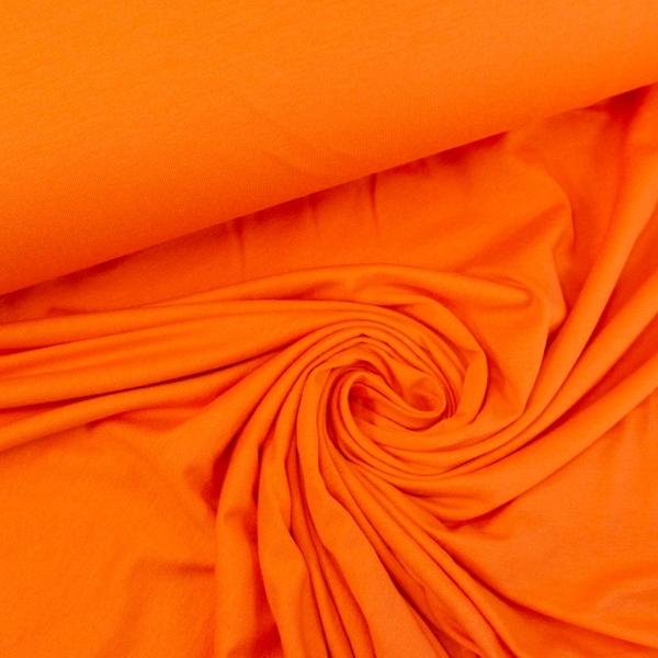 Viskosejersey Uni orange