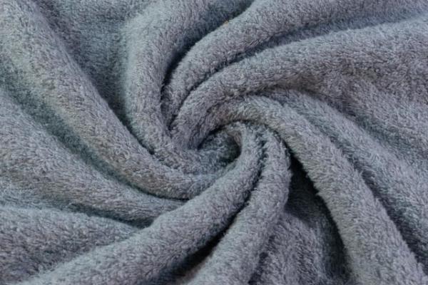 Kuschelfrottee Melange dusty blue Ökotex 100