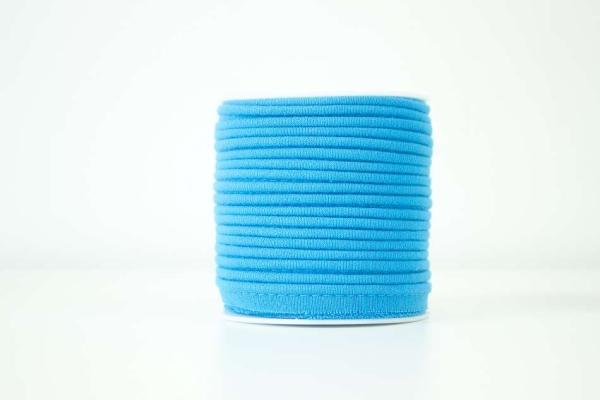 Jersey Paspelband blau elastisch