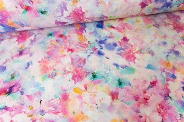 Viskosewebware Holy Flowers aquarell Ökotex 100