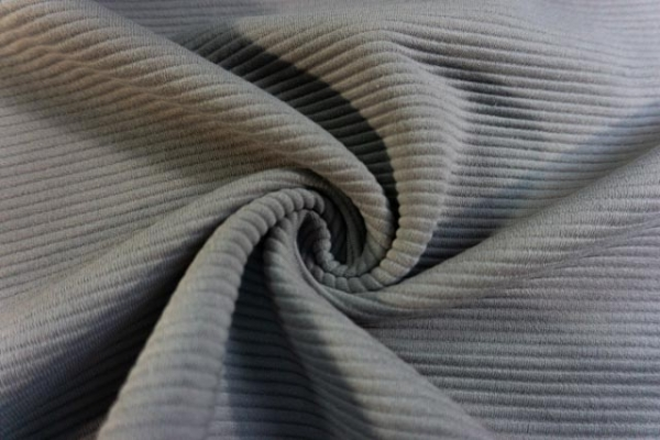 Baumwolljersey Stripe Knitted grau Ökotex 100