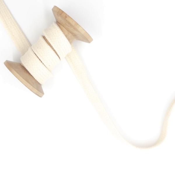 Flachkordel 15mm - Hoodie Kordel ecru