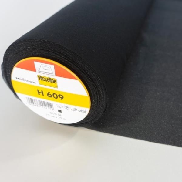 Vlieseline Bügeleinlage H609 schwarz