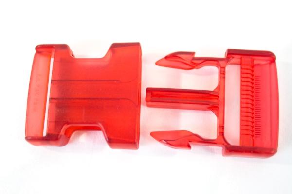 Rucksackschließe rot 40mm Kunststoff