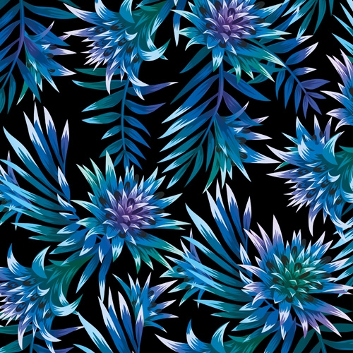 Bio-Baumwolljersey Aechmea petrol-blau Ökotex 100