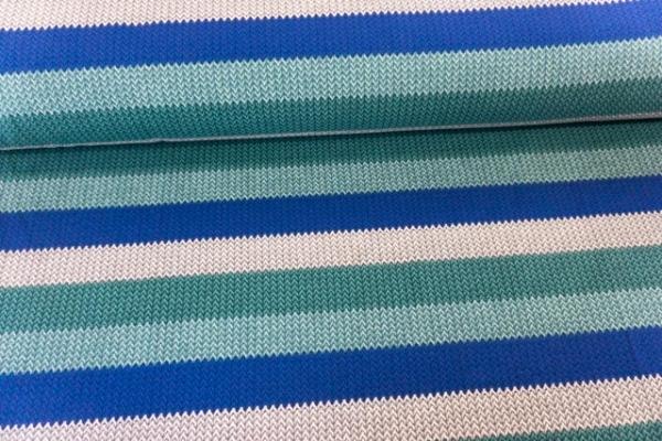 Sweat French Terry angeraut Statement Stripes Knit petrol-mint-royal-grau Ökotex 100