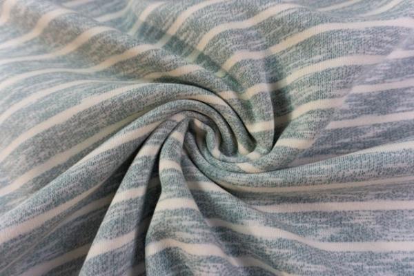 Vintage-Sweat angeraut Streifen dusty mint Ökotex 100