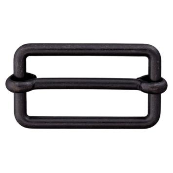 Metallschließe schwarz 25mm