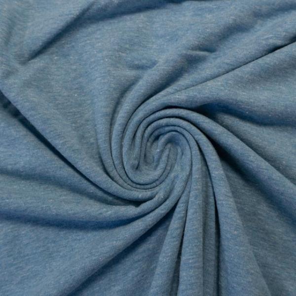 Baumwolljersey Anna Meliert jeansblau hell